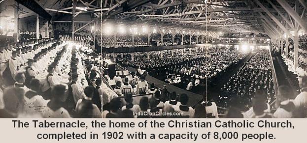 Tabernakel, rumah dari Gereja Katolik Kristen, selesai pada tahun 1902 dengan kapasitas 8.000 orang