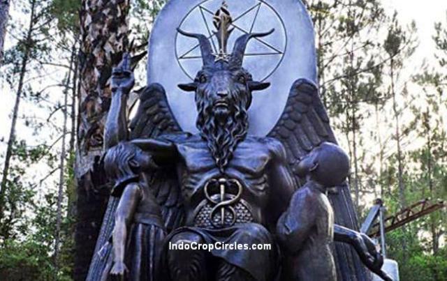 satanic baphomet simbol header