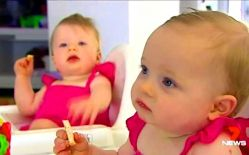 Charlotte and Olivia are classified as twins even though they were conceived 10 days apart.