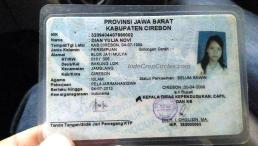 KTP Dian Yulia Novi, calon pengantin (bomber) di Istana Presiden di Jakarta.