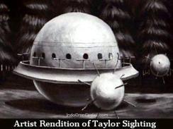 Benda terbang tak dikenal itu berbentuk kubah atau bole besar dilengkapi oleh bola-bola kecil dengan duri-duri seperti ranjau.