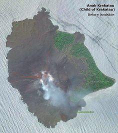 Penampakan Gunung Anak Krakatau via satelit sebelum terjadi tanah longsor  yang menyebabkan tsunami 22 Desember 2018. 2f4fdf719e